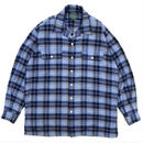 Polo Country / L/S Cotton Open Collar Check Shirt / Blue / Used
