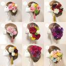 造花ヘアアクセサリー