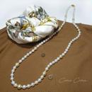 白蝶真珠 マルチカラー ロングネックレス