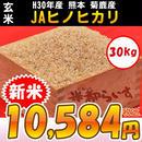 【玄米】H30年産 菊鹿産 JAヒノヒカリ 2等米以上 30kg