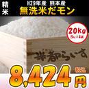 【精米】H29年度産 無洗米だモン。20kg