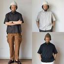 【シャツは長袖派の方も必見です!】STILL BY HAND  スティルバイハンド  ローン半袖シャツ ブラウン/ブラック/エクル