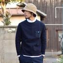 【2017春夏新作】Re made in tokyo japan MILANORIB RAGLAN PULLOVER アールーイーメイドイントーキョージャパン ミラノリブラグランプルオーバー ネイビー