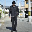 【2016秋冬新作】SETTO  SHRINK TWILL NO COLLAR COVERALL&SMART PANTS BLK セット ノーカラーカバーオール&スマートパンツ ブラック ※単品販売可