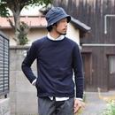 【RECOMMEND】Re made in tokyo japan NARROW RIB POCKET TRAINER アールーイーメイドイントーキョージャパン ナローリブポケットトレーナー ネイビー