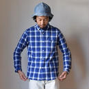 【RECOMMEND】Ordinaryfits   INVISIBLE SHIRT CHECK BLU オーディナリーフィッツ インビシブルシャツ チェック ブルー