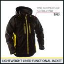 ライトウェイトジャケット ブラック/イエロー 4890-9933