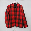 【新品】17AW STUSSY CRUIZE COACH JACKET USAモデル Red Plaid/Black(250)