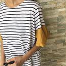 袖カラーフレアゆったりボーダーカットソー(2color)【クリックポスト対象商品】