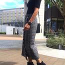 グレンチェックフリンジラップスカート(2color)