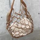 フェイクレザーネットバッグ(2color)