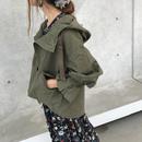 キャンディー袖フードミリタリージャケット【クリックポスト対象商品】