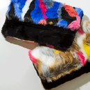 colorful  fur  bag