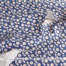 Smiley Flowers -indigo blue (CO152138 A)しっかり厚手生地