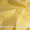 Smiley Flowers -mustard (CO152138 D)しっかり厚手生地