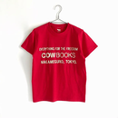 Book Vender T-shirt (Logo / Red×Ivory)