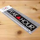 """PEAK▲HOUR"" Bumper Sticker"