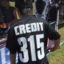 CREDIT Stadium Cross 315 T-SHIRTS ~ DRY Tee・Black × White
