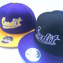"""CREDIT COLLEGED"" Snapback・Purple × Black"