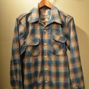 boncoura ワンナップネルシャツ ブルー
