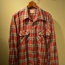 boncoura ワンナップシャツ 赤チェック