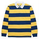 "dear, x Polar ""BLOCK STRIPE POLO LONGSLEEVE""/NAVY×YELLOW"