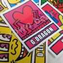 BIGBANG 耐水ステッカーキースへリング G-DRAGON/ジヨン ver.