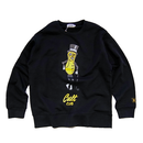 HELLO MY FRIEND CREWNECK (BLACK) : STEPHEN PALLADINO【CC0009】