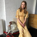 1940s Yellow Dress