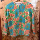 50-60s Floral cardigan