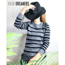 4OUR DREAMERS(フォーアワードリーマーズ)TWO COLOR STRIPE SWEATER トゥーカラー ストライプ セーター