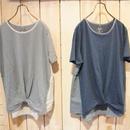 【NANEA】インディゴ天竺・裾変形Tシャツ