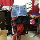 tomoki yuritaのリメイクデニムスカート