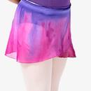 WaterColour グラデーション巻きスカート パープル×マルベリー