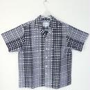 オリエンタル アロハシャツ  (男性Lサイズ半袖) 二つのパターンの格子縞