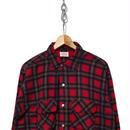60's BRENT プリントネルシャツ フラップポケット RED✕BLACK