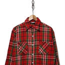 70's BIG MAC ヘビーネルシャツ レッド✕グリーン