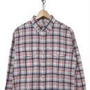 90~00's  J.CREW マドラスチェック 長袖BDシャツ PINK×WHITE