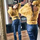 <ADIRA>2way feather knit AR183KT07