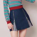 <ANDGEEBEE>ZIP TACK mini skirt AG183SK06