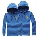 ブルー 青 ポロパーカー 高品質 男女兼用 オシャレ 人気美品 メンズ レディース couple ペアルック ポロ ラルフローレン  パーカー