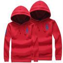 赤ポロパーカー レッド 高品質 男女兼用 オシャレ 人気美品 メンズ レディース couple ポロラルフローレン ペアルック
