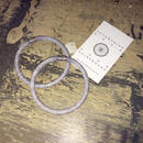 Organdy Big Hoop <Greyish Blue>