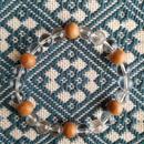 屋久杉水晶ブレスレット 六芒星✡ヘキサグラム 8㎜×24粒