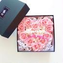 """LUXURY BOX  """"strawberry cake"""" メッセージ入り♡フラワーハートBOX"""