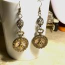 160121 懐中時計と真鍮ネジと鳥カゴのピアス【片耳】/スチームパンク