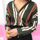 レトロストライプシャツ【2カラー】
