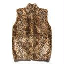 CANADA製 Leopard Fake Fur Vest