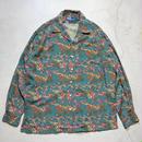90's Ralph Lauren Open Collar L/S Shirts 極上 ネクタイ柄 M