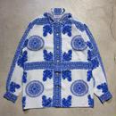 90's EQUIPMENT Open Collar L/S Shirts フランス製 バンダナ柄 極上